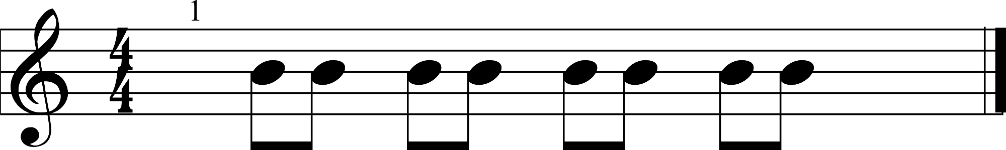 Eighth Note Example