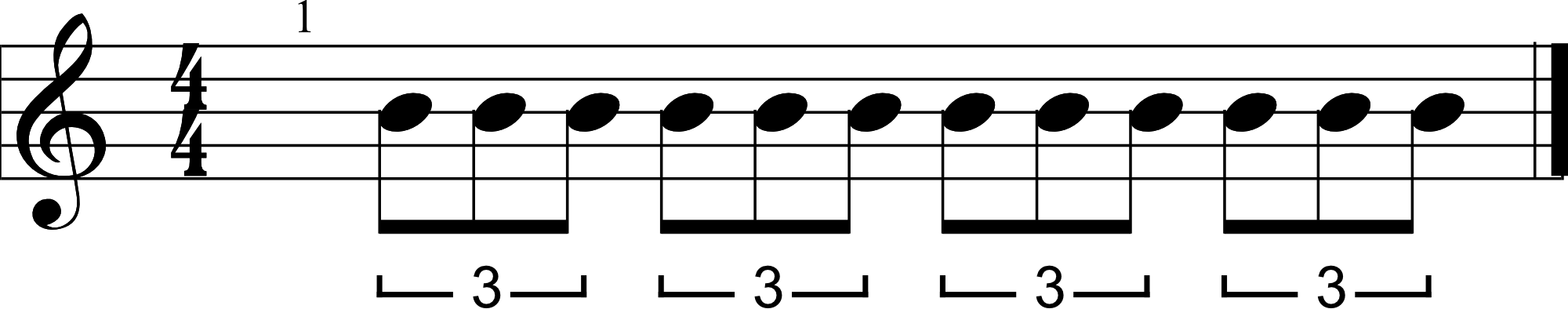 Eighth Note Triplet Example