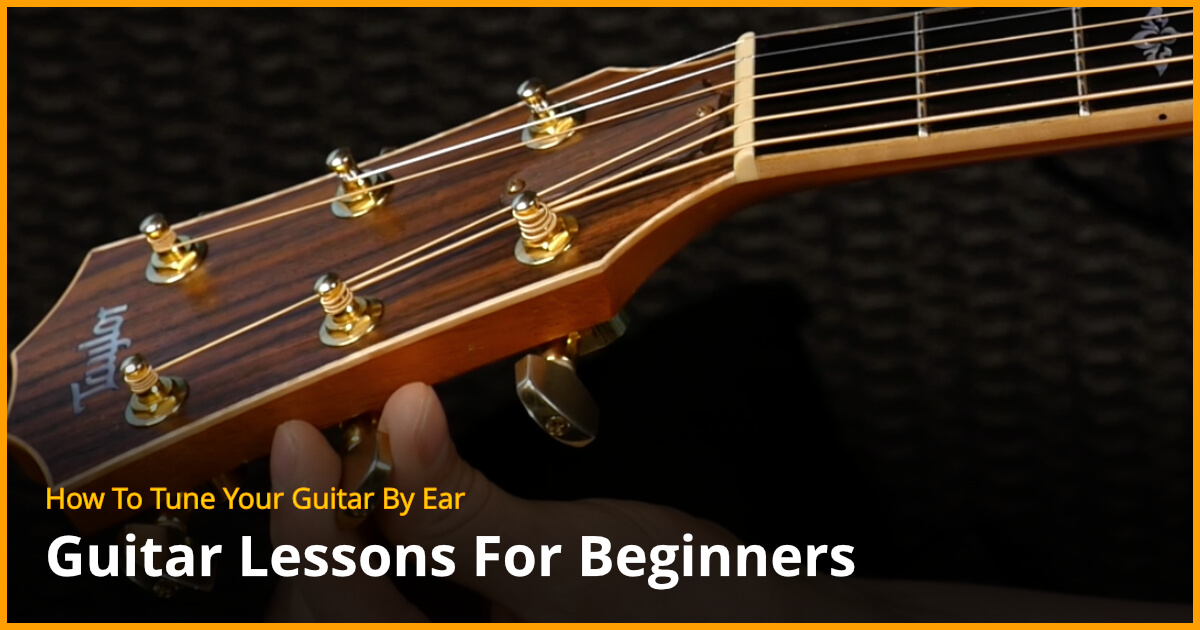 how to tune your guitar by ear free guitar lessons. Black Bedroom Furniture Sets. Home Design Ideas